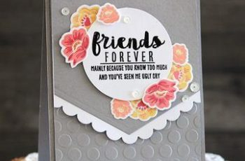 tarjetas de amigas por siempre decoradas