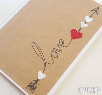 tarjetas de amor a mano faciles