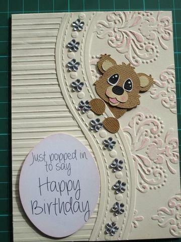 tarjetas de cumpleaños de ositos creativa
