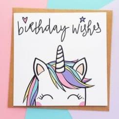 tarjetas de cumpleaños de unicornios sencillas