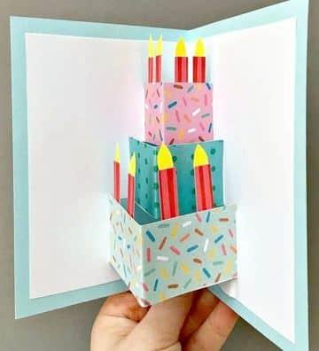 tarjetas de cumpleaños pop up faciles