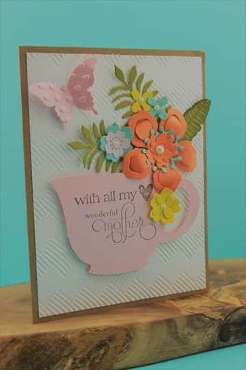tarjetas de felicitacion para mama decorada