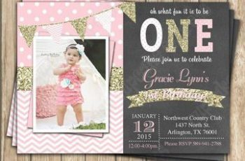 tarjetas de invitacion para niñas con foto