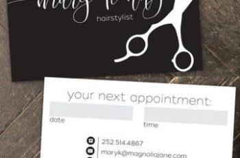 tarjetas de presentacion para estilistas doble cara