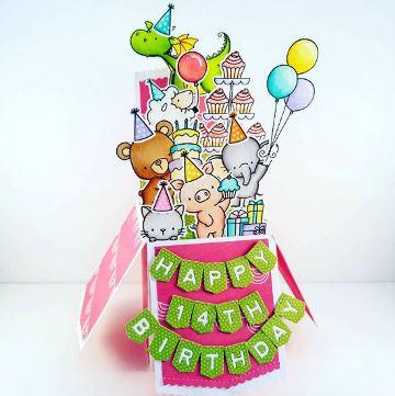 tarjetas magicas de cumpleaños para niña