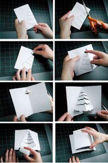 tarjetas pop up paso a paso de navidad