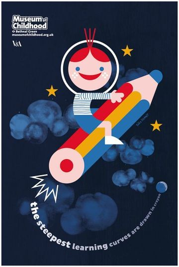 afiches publicitarios para niños de museos