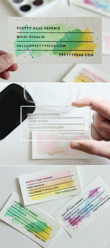 como hacer tarjetas de negocio con plantilla