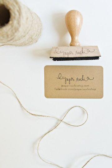 como hacer tarjetas de negocio con sello de caucho