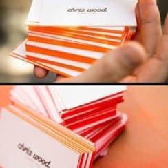 como hacer tarjetas de negocio pintadas