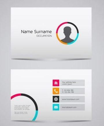 datos de una tarjeta de presentacion ejemplo