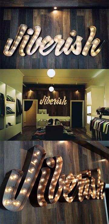 diseños de carteles para negocios con luces