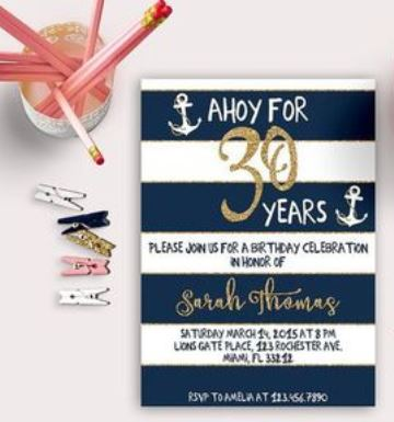 invitaciones virtuales para cumpleaños 30