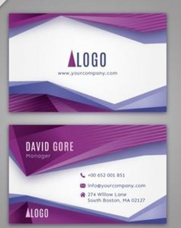 marcos para tarjetas de presentacion moderna