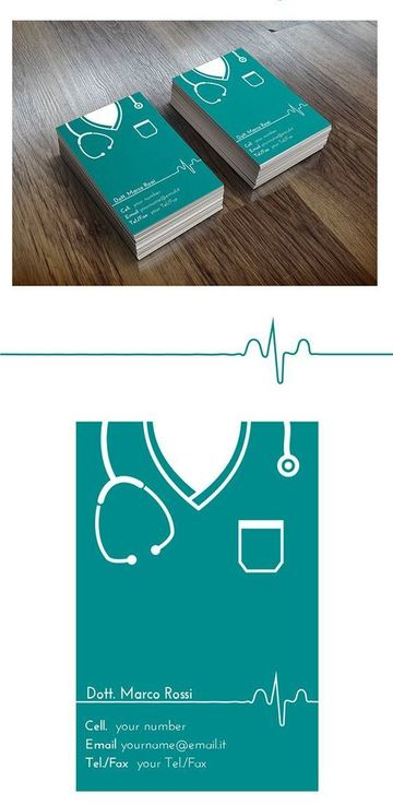 medical presentation cards modernas