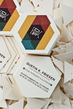 modelos de tarjetas de visita hexagonal