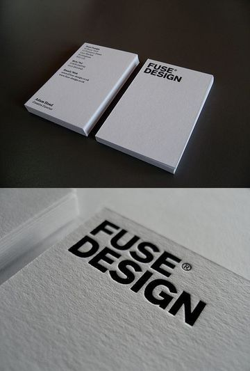 tarjetas de presentacion blancas sencillas