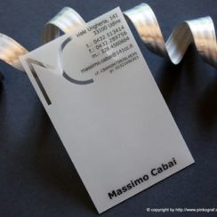 tarjetas de presentacion blancas transparentes