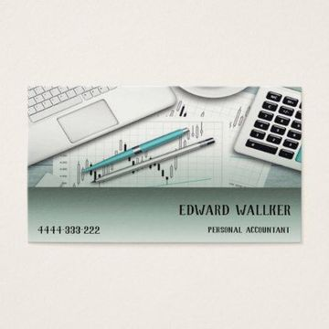 tarjetas de presentacion contador publico sencilla