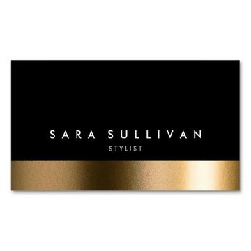 tarjetas de presentacion de estilistas elegante