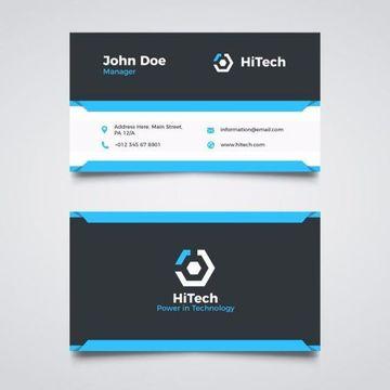 tarjetas de presentacion empresarial dos caras