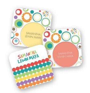 tarjetas de presentacion infantiles cuadradas