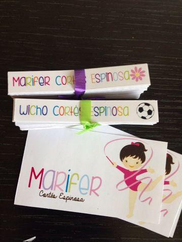 tarjetas de presentacion infantiles de niñas
