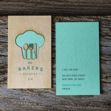 tarjetas de presentacion madera cortada