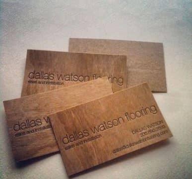 tarjetas de presentacion madera grabadas en laser