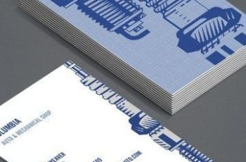 tarjetas de presentacion mecanico ambas caras