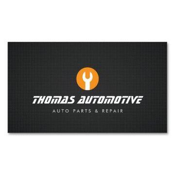 tarjetas de presentacion mecanico para empresa