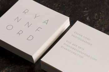 tarjetas de presentacion minimalistas cuadrada