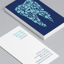 tarjetas de presentacion odontologia dos caras