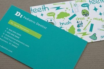 tarjetas de presentacion odontologia pediatrica
