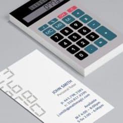 tarjetas de presentacion para contadores creativa