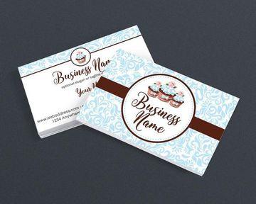 tarjetas de presentacion pasteleria en plantilla