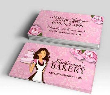 tarjetas de presentacion pasteleria horizontal