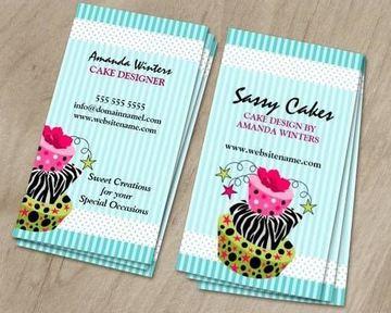 tarjetas de presentacion pasteleria vertical