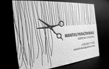 tarjetas de presentacion peluqueria horizontal