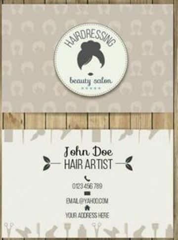 tarjetas de presentacion peluqueria sencilla