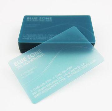 tarjetas de presentacion pvc azul