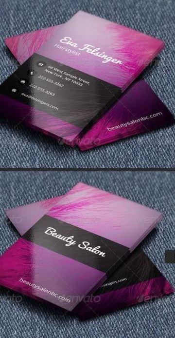 tarjetas de presentacion salon de belleza modernas