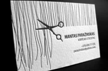tarjetas de presentacion salon de belleza sencillas