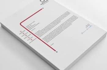 hojas membretadas de empresas sencillas