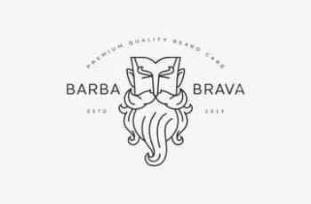 logos de peluqueria para hombres originales