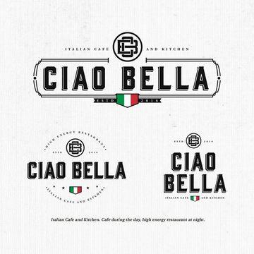 logos de restaurantes italianos colores de la bandera