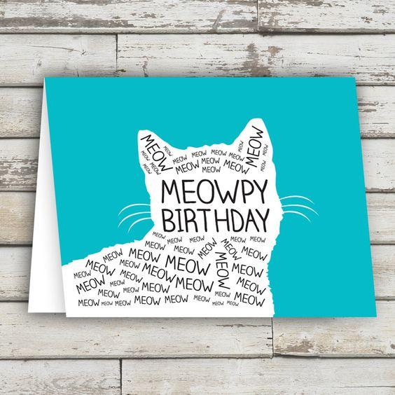 tarjetas de cumpleaños con gatos divertidas