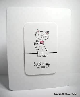 tarjetas de cumpleaños con gatos tiernas