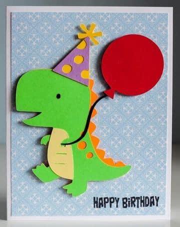 tarjetas de cumpleaños de dinosaurios en 3D