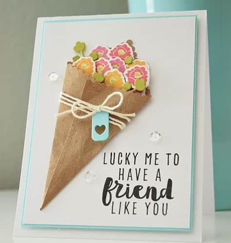 tarjetas de gracias por tu amistad hecha en 3D